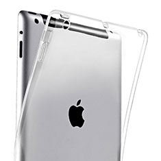 Ultra-thin Transparent TPU Soft Case for Apple iPad 4 Clear