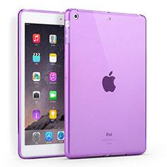 Ultra-thin Transparent TPU Soft Case for Apple iPad Air Purple