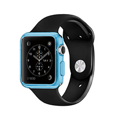 Ultra-thin Transparent TPU Soft Case for Apple iWatch 3 38mm Blue