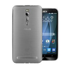 Ultra-thin Transparent TPU Soft Case for Asus Zenfone 2 ZE551ML ZE550ML Gray