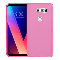 Ultra-thin Transparent TPU Soft Case for LG V30 Pink