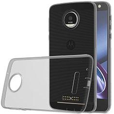 Ultra-thin Transparent TPU Soft Case for Motorola Moto Z Play Gray