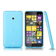Ultra-thin Transparent TPU Soft Case for Nokia Lumia 1320 Blue