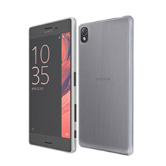 Ultra-thin Transparent TPU Soft Case for Sony Xperia X Gray