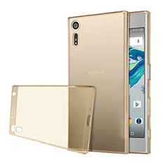 Ultra-thin Transparent TPU Soft Case for Sony Xperia XZs Gold