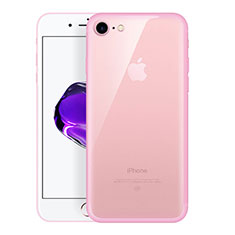 Ultra-thin Transparent TPU Soft Case H01 for Apple iPhone SE (2020) Pink