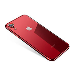 Ultra-thin Transparent TPU Soft Case H01 for Apple iPhone XR Red