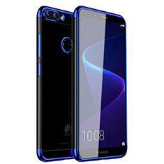 Ultra-thin Transparent TPU Soft Case H01 for Huawei Enjoy 7S Blue