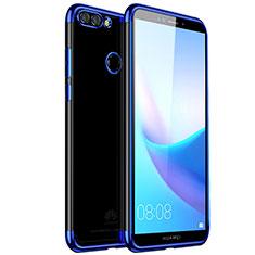 Ultra-thin Transparent TPU Soft Case H01 for Huawei Enjoy 8 Plus Blue