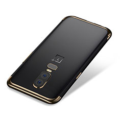 Ultra-thin Transparent TPU Soft Case H01 for OnePlus 6 Gold