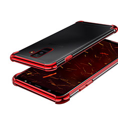 Ultra-thin Transparent TPU Soft Case H01 for Samsung Galaxy A6 Plus Red