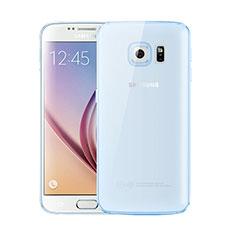 Ultra-thin Transparent TPU Soft Case H01 for Samsung Galaxy S6 SM-G920 Blue