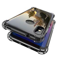 Ultra-thin Transparent TPU Soft Case H01 for Xiaomi Redmi 6 Pro Gray