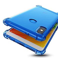 Ultra-thin Transparent TPU Soft Case H01 for Xiaomi Redmi Note 5 Pro Blue