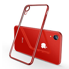 Ultra-thin Transparent TPU Soft Case H02 for Apple iPhone XR Red