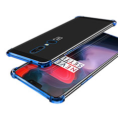 Ultra-thin Transparent TPU Soft Case H02 for OnePlus 6 Blue