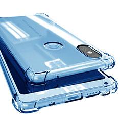 Ultra-thin Transparent TPU Soft Case H02 for Xiaomi Mi Mix 2S Blue