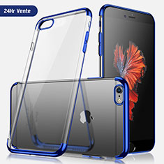 Ultra-thin Transparent TPU Soft Case H04 for Apple iPhone SE (2020) Blue