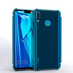 Ultra-thin Transparent TPU Soft Case S01 for Huawei Enjoy 9 Plus Blue