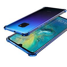 Ultra-thin Transparent TPU Soft Case S01 for Huawei Mate 20 Blue