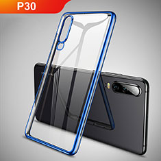 Ultra-thin Transparent TPU Soft Case S01 for Huawei P30 Blue