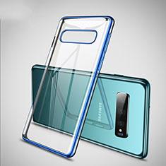 Ultra-thin Transparent TPU Soft Case S02 for Samsung Galaxy S10 Plus Blue