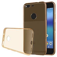 Ultra-thin Transparent TPU Soft Case T02 for Google Pixel XL Gold