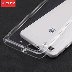 Ultra-thin Transparent TPU Soft Case T02 for Huawei G Play Mini Clear