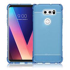 Ultra-thin Transparent TPU Soft Case T02 for LG V30 Blue
