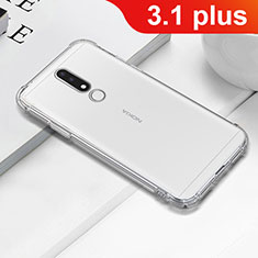 Ultra-thin Transparent TPU Soft Case T02 for Nokia 3.1 Plus Clear