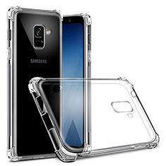 Ultra-thin Transparent TPU Soft Case T03 for Samsung Galaxy A8+ A8 Plus (2018) A730F Clear