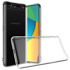 Ultra-thin Transparent TPU Soft Case T03 for Samsung Galaxy A80 Clear