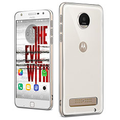Ultra-thin Transparent TPU Soft Case T04 for Motorola Moto Z Play Clear