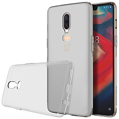 Ultra-thin Transparent TPU Soft Case T04 for OnePlus 6 Gray