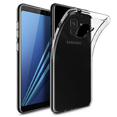 Ultra-thin Transparent TPU Soft Case T04 for Samsung Galaxy A8+ A8 Plus (2018) A730F Clear