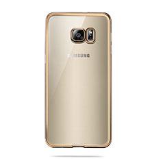 Ultra-thin Transparent TPU Soft Case T04 for Samsung Galaxy S6 SM-G920 Gold