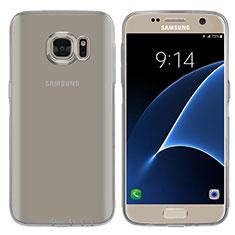 Ultra-thin Transparent TPU Soft Case T04 for Samsung Galaxy S7 G930F G930FD Gray