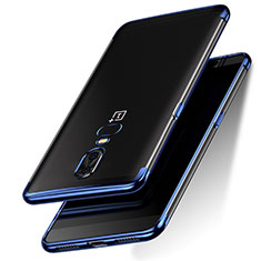 Ultra-thin Transparent TPU Soft Case T05 for OnePlus 6 Blue