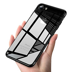 Ultra-thin Transparent TPU Soft Case T19 for Apple iPhone SE (2020) Black