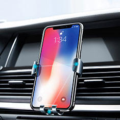 Universal Car Air Vent Mount Cell Phone Holder Cradle Z02 for Oppo Reno4 5G Silver