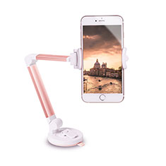 Universal Car Suction Cup Mount Cell Phone Holder Cradle H06 for Alcatel 3L Rose Gold