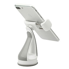 Universal Car Suction Cup Mount Cell Phone Holder Cradle H08 Silver
