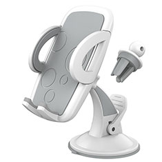 Universal Car Suction Cup Mount Cell Phone Holder Cradle H12 White
