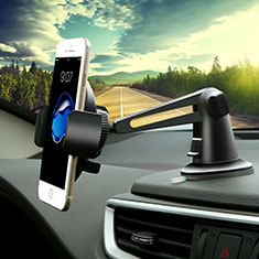 Universal Car Suction Cup Mount Cell Phone Holder Cradle H16 for Alcatel 3L Black