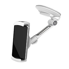 Universal Car Suction Cup Mount Cell Phone Holder Cradle H22 Silver