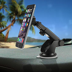 Universal Car Suction Cup Mount Magnetic Cell Phone Holder Cradle S02 for Alcatel 3L Silver