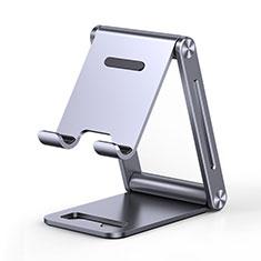 Universal Cell Phone Stand Smartphone Holder for Desk K03 for Alcatel 1S 2019 Gray