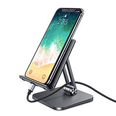 Universal Cell Phone Stand Smartphone Holder for Desk K04 for Alcatel 1S 2019 Black