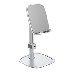 Universal Cell Phone Stand Smartphone Holder for Desk K10 for Alcatel 1S 2019 Silver