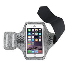 Universal Gym Sport Running Jog Arm Band Strap Case B12 for Alcatel 3X Gray